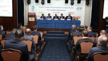 Trans-Caspian issues of international transport route in Kiev
